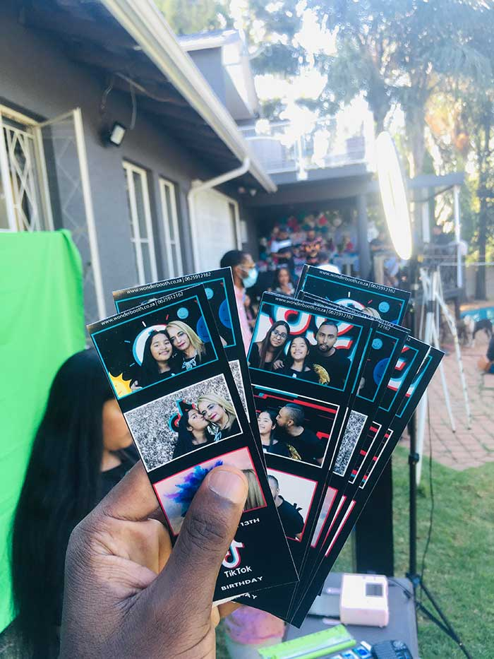 green screen photo booth hire prints at Saranya's 13th birthday..